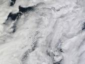 Hullámfelhők a Sandwich-szigetek felett